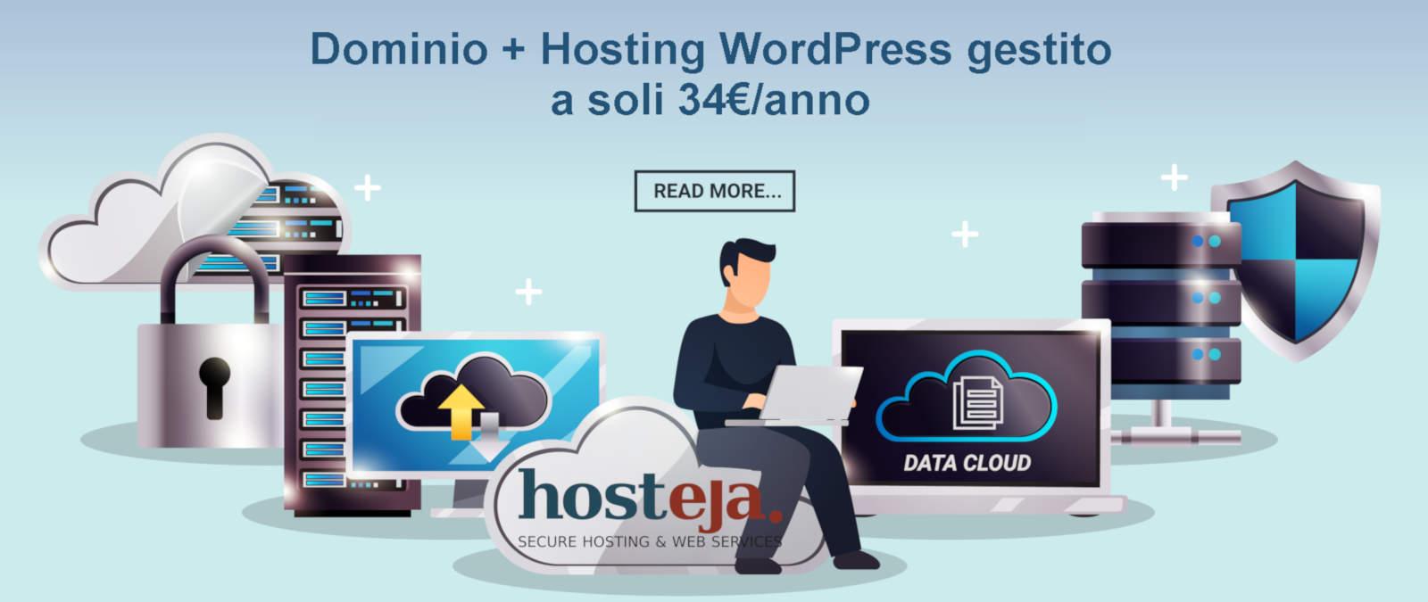 Dominio + Hosting WordPress gestito, Hosteja.com - Hosting Service Provider