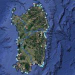 La mappa Hosteja sulla Sardegna