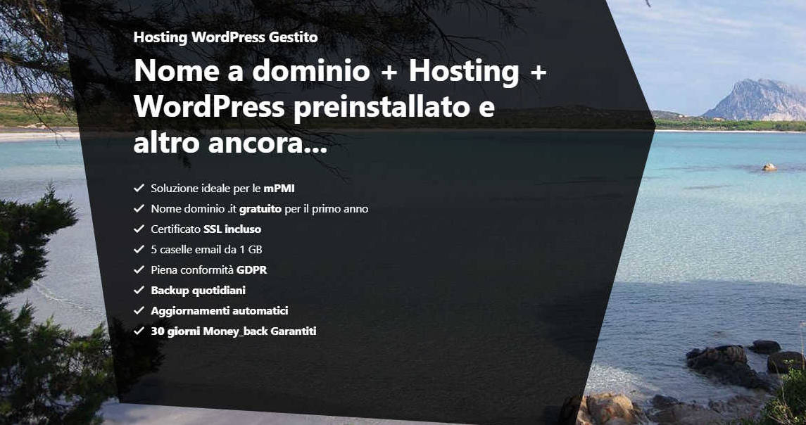 Dominio e Hosting con WordPress preisntallato - Hosteja.com